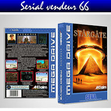 "BOX, CASE ""STARGATE"". MEGADRIVE. BOX + COVER PRINTED. NO GAME. MULTILINGUAL."