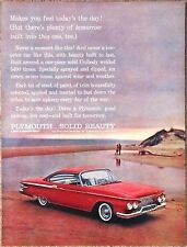 1961 Plymouth FURY Advertisement Photo AD Red Car Beach Today's The Day!
