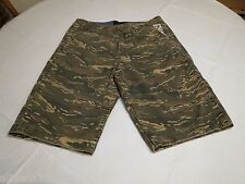 Men's Quiksilver shorts 30 camo camouflage surf skate green NEW walk casual NWT