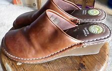 Earth Spirit Women's Shoes Size 9 1/2 Brown Leather Clogs Mules Gelron 2000