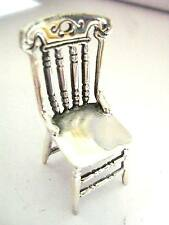 4cm Sterling Silver Victorian look Miniature Dolls house Ornate Farmhouse chair