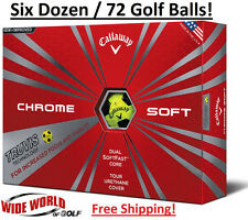 New 2016 Callaway Chrome Soft Truvis 6 Dozen / 72 Golf Balls - Yellow / Black