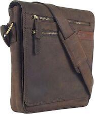 UNICORN Bolsa de cuero genuino - iPad, Tablet accesorios Bolsa - Marrón #4G