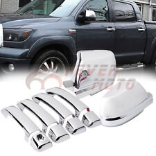 Chrome Door Handle+Mirror Cover For Toyota Tundra Crew Max Sequoia 2008-2016 FM