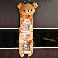 Cute Cartoon Relax Bear Rilakkuma SanX Wall Hanging Storage Bag 3 Pockets Gift