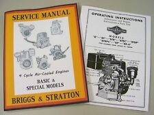 BRIGGS STRATTON 8 8F 8FB SERVICE REPAIR OWNER OPERATOR OPERATING PART MANUAL