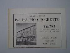 advertising Pubblicità 1951 IMPRESA EDILE PIO CUCCHETTO - TERNI