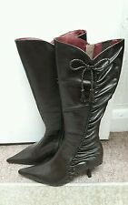 brand new moda in pelle size 38/5 brown leather long boots