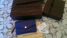 Louis Vuitton Empreinte Leather Key Pouch Denim Blue Box Bag Receipt