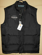 Down Vest NEW L Mens 42-44L Black North End Zip Wind Flap Water Resistant 5V25