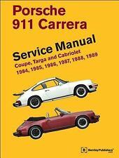 Porsche 911 Carrera Service Manual~1984-1989~Coupe~Targa~Cabriolet~768 pp~NEW HC