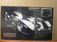 Vintage 1989 DC Comics Batman The batmobile poster 7394