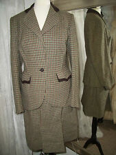 CC41 Rogant Gillie Tweed skirt suit - 8 10 12 14 Ditsy vintage 40s Goodwood RARE
