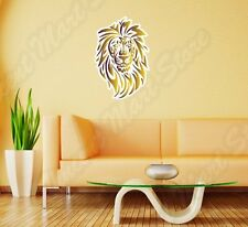 "Gold Lion Tribal King Cat Pet Animal Wall Sticker Room Interior Decor 16""X25"""