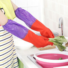 Household Warm Dishwashing Glove Water Dust Cleaning Rubber Glove Waterproof