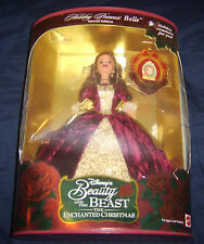 Holiday Princess Belle Disney Christmas 2nd Beauty & The Beast 1997 Barbie Doll