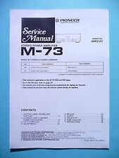 Service manual manual for Pioneer M-73