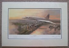 Adrian Rigby, Pride of Britain -Co Signed Mounted Limited Edition Concorde Print