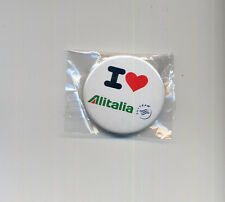 airlines memorabilia I love ALITALIA pin badge button - sealed aa