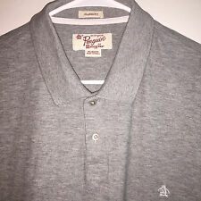 EUC MENS RETRO GRAY ORIGINAL PENGUIN MESH KNIT S/S COTTON POLO SHIRT XL GOLF
