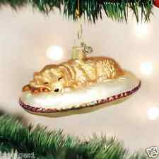 *Dog Tired* Pet Puppy Sleep [12421] Old World Christmas Glass Ornament - NEW