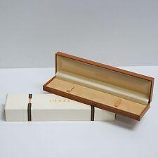scatola box astuccio marrone per orologio gucci   ANNI 80/90