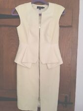 Ted Baker Peplum Cream Dress Size 1