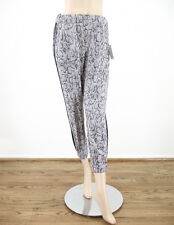 Guess Reptile Jogger Pants in Gray Slim Cropped Snakeskin Print S $89 7523 BMV