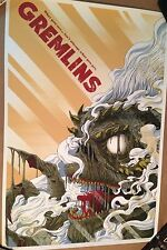 "MONDO Gremlins Movie Poster Randy Ortiz 24""x36"" Screen Print Limited Edition"