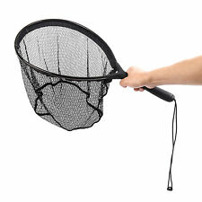 Maxcatch Fly Fishing Landing Nets Nylon Aluminium Frame Black Elastic