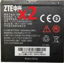 2 NEW ORIGINAL OEM ZTE Li3717T43P3h565751 BATTERY FOR WARP N860, ANTHEM 4G N910