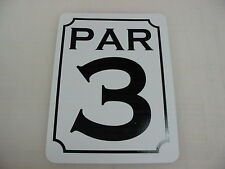 PAR 3 Sign for Golf Course Country Club, Pro Shop Indoor Driving Range Mat Net