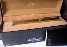 STYLO DUPONT VERMEIL (argent massif & or) PLUME OR ANCIEN COLLECTION VERS 1970