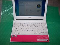 "Pink Acer Aspire One Happy 1.66GHz /160GB/2GB/10.1""/ Win 7, in greate condition"