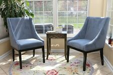 Sofa Chair Modern Arm Chairs 2Pc Set Microfiber Dining Living Room Furniture NEW