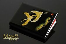 JAPANESE LACQUER luxurious MAKIE craft NOTEBOOK TSURU Cranes gold memo diary NEW