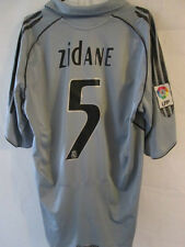 Real madrid zidane 2005-2006 5 away shirt football taille L / 34355