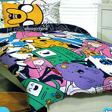 Adventure Time Characters - Double/US Full Bed Quilt Doona Duvet Cover Set