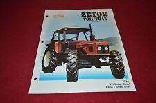 Zetor 7011 7045 Tractor Dealer's Brochure DCPA2 ver3
