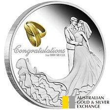 2017 Wedding 1oz Silver Proof Coin
