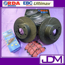 HOLDEN HD, HR (1965-1967) - RDA SLOTTED Front Brake Discs & EBC ULTIMAX Pads