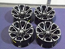 "12"" POLARIS RZR 800 S4 ALUMINUM ATV WHEELS NEW SET 4 - LIFETIME WARRANTY T3"
