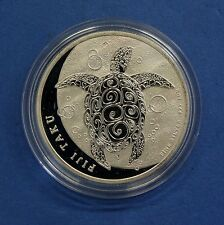 2012 Fiji 1oz 0.999 Silver $2 Turtle coin in Capsule  (V9/44)