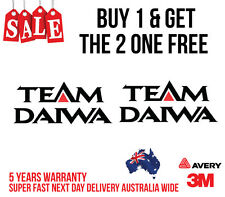 2 X TEAM DAIWA DECAL STICKER FOR BOATS, CARS, UTES, BOATS /FISHING 205MM X 90MM