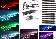 12PC 36RGB LED Car Motorcycle Chopper Frame Glow Lights Flexible Neon Strips Kit