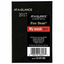 AT-A-GLANCE Pocket Diary 2017 Weekly Monthly Fine Diary Calendar 2-3/4 X 4-1/4