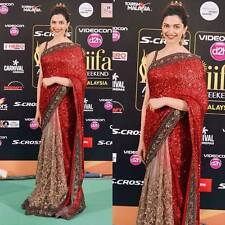 Bollywood Indian Saree Fabric saree Net&Georgette Desigener  Saree Blouse Sari