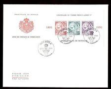 Monaco 1991 Prince Albert Stamps Centenary M/S FDC #C8261