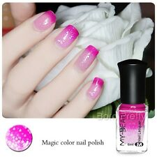 6ml Thermal Nail Polish Color Changing Peel Off Peachblow to Pink Nail Varnish