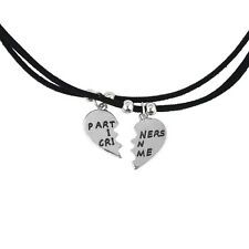 Lux Accessories Partners In Crime BFF Best Friends Forever Rope Necklace (2 PC).